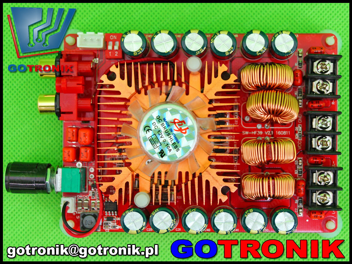 BTE-347, tda7498e, 2 x160W, BTL, wzmacniacz mocy, wzmacniacz audio, akustyczny, mostkowy,mostek btl, stereo, mono, btl, sanwu, HF-39 2X160W, BTE347