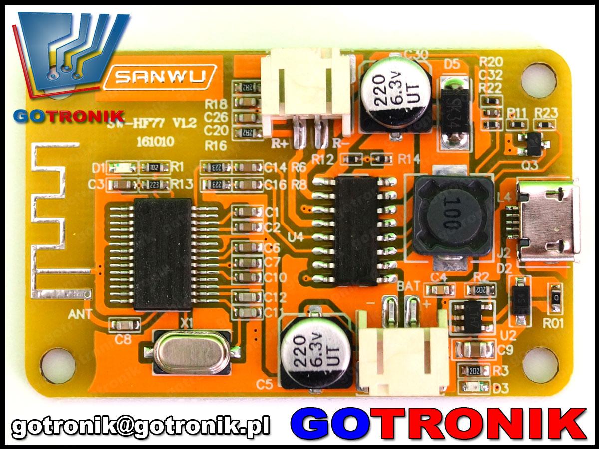 BTE-348, sanwu, sw-hf77, wzmacniacz mocy, wzmacniacz audio, obiornik bluetooth, usb, 5v, wzmacniacz z bluetooth, BTE348