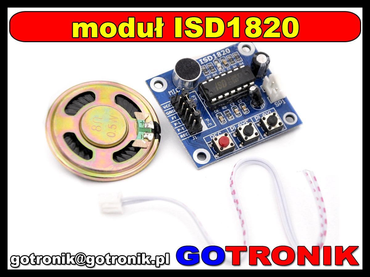 BTE-350 ISD1820 moduł nagrywania odtwarzania dźwięków