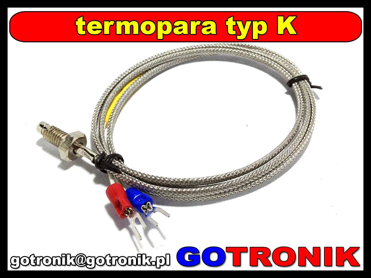 termopara typ k gwint m6  0-400°C