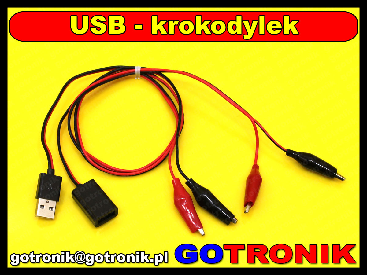 BTE-357 przewód adapter przejściówka USB A na krokodyle BTE357