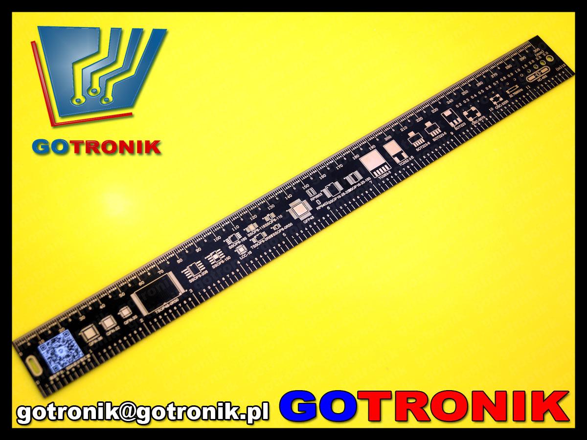 BTE-370 linijka pcb płytka drukowana 30cm wzornik BTE370