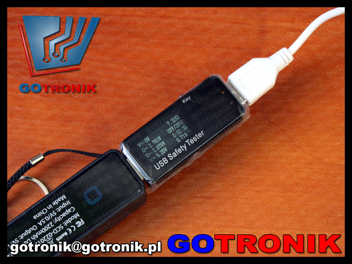 BTE-372 BTE372 miernik USB J7-t j7t doctor charger napięcia prądu mocy