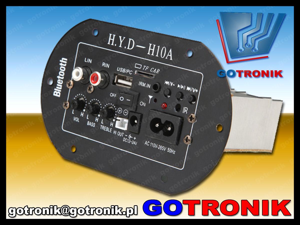 wzmaczniacz mocy audio H.y.d-h10a odtwarzacz mp3 usb bluetooth sdcard BTE-377