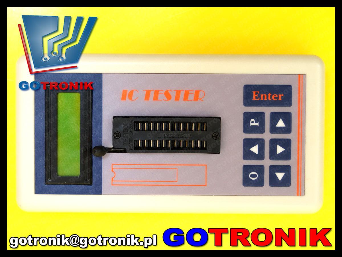 BTE-392 tester układów scolonych loginych TTL CMOS wzmacniaczy operacyjnych MOS PNP NPN BTE392