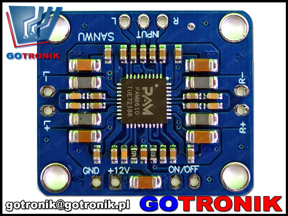 BTE-393, PAM8610, kalsa d, wzmacniacz cyfrowy, wzmacniacz audio 2x15W, Sanwu, wzmacniacz mocy, wzmacniacz akustyczny, bte393