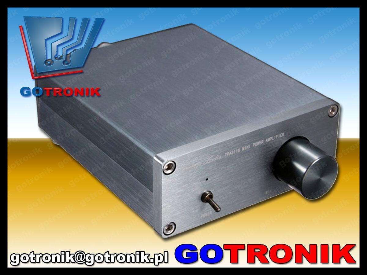 TPA3116 wzmacniacz mocy audio 2x50W klasa D obudowa aluminiowa stereo BTE-404
