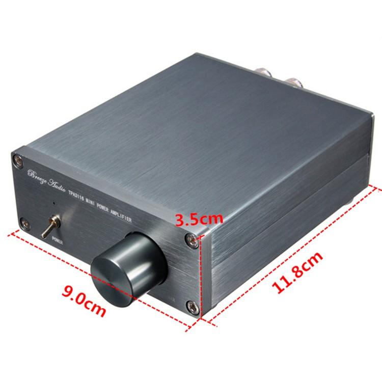 oTPA3116 wzmacniacz mocy audio 2x50W klasa D obudowa aluminiowa stereo BTE-404