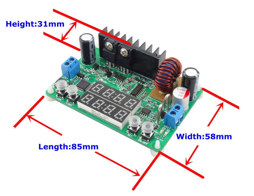 DP30V5A-L RD  przetwornica napięcia stepdown obniżająca napięcie 32V 5A 160W LED BTE-407