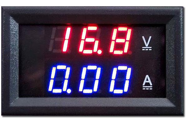 panelowy miernik woltomierz 100V dc amperomierz 10A led BTE-416