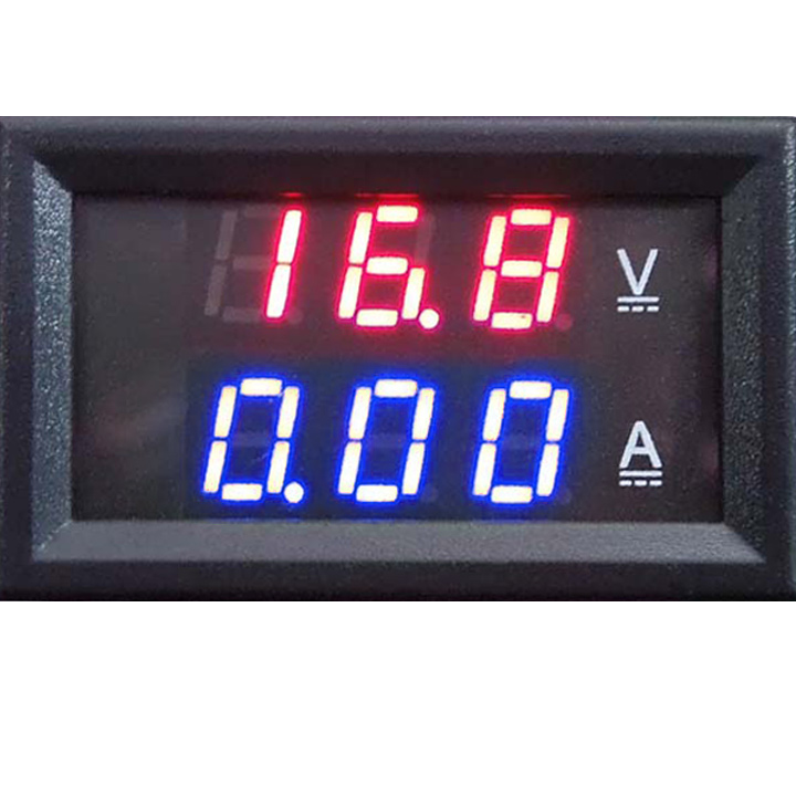 panelowy miernik woltomierz 100V dc amperomierz bocznik 50A led BTE-417
