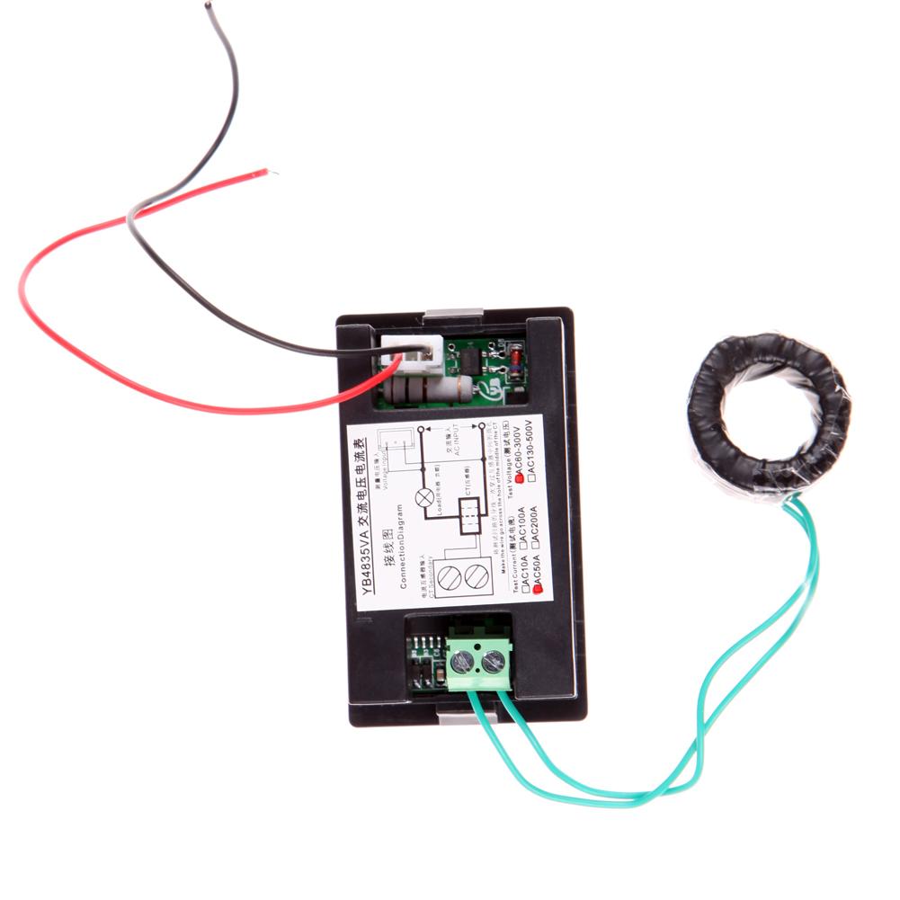 YB4832VA Panelowy miernik prądu 50A i napięcia 60-300VAC BTE-421