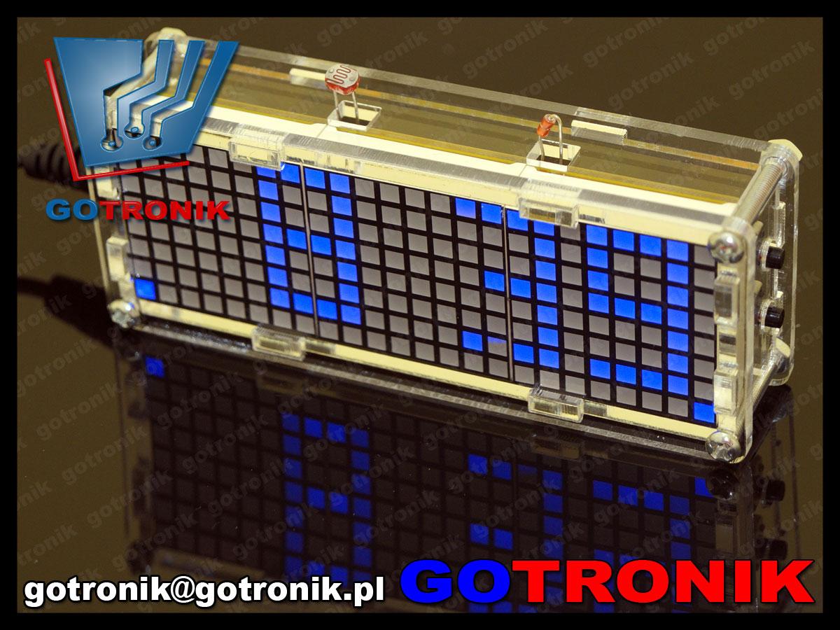 BTE-434 Zegar elektroniczny matrix LED z termometrem