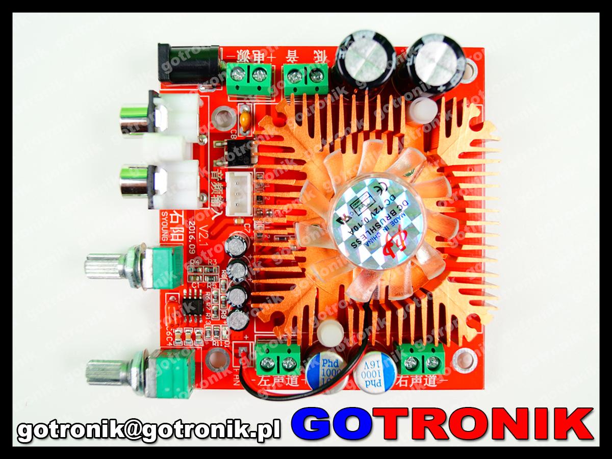 BTE-441 wzmacniacz mocy audio stereo 2x13W + 38W subwoofer bas 12V 24V