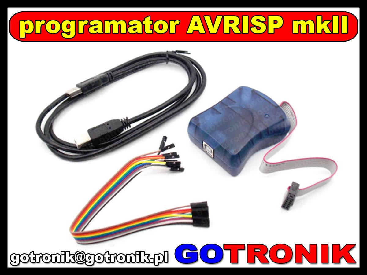 Atmel AVR Programator zgodny AVRISP mkII AVR ISP mk2 USB AVRISP XPII In-System Programmer wsparcie dla AVR Studio 4/5/6