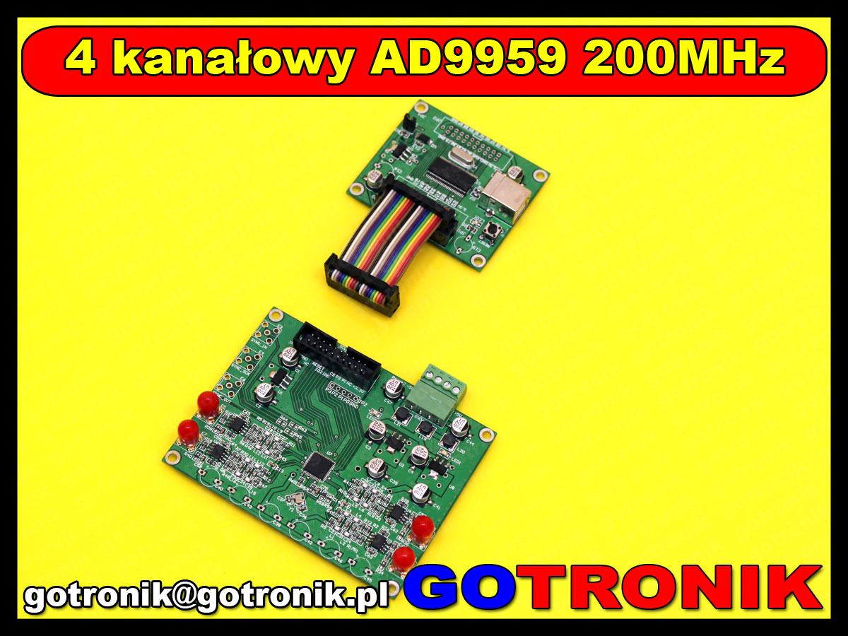 BTE-455 AD9959 moduł 4 kanałowego generatora DDS 200MHz