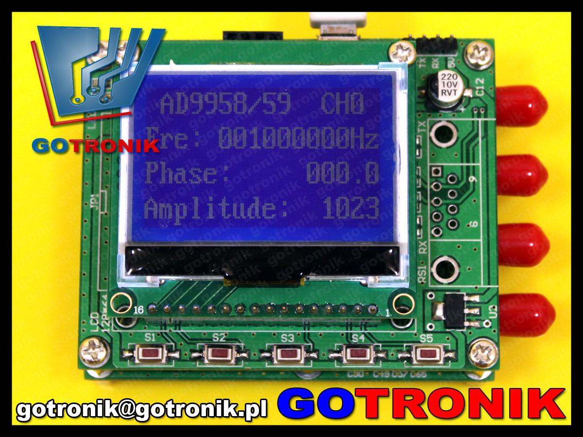 BTE-465 AD9959 moduł 4 kanałowego generatora DDS 200MHz STM32F103