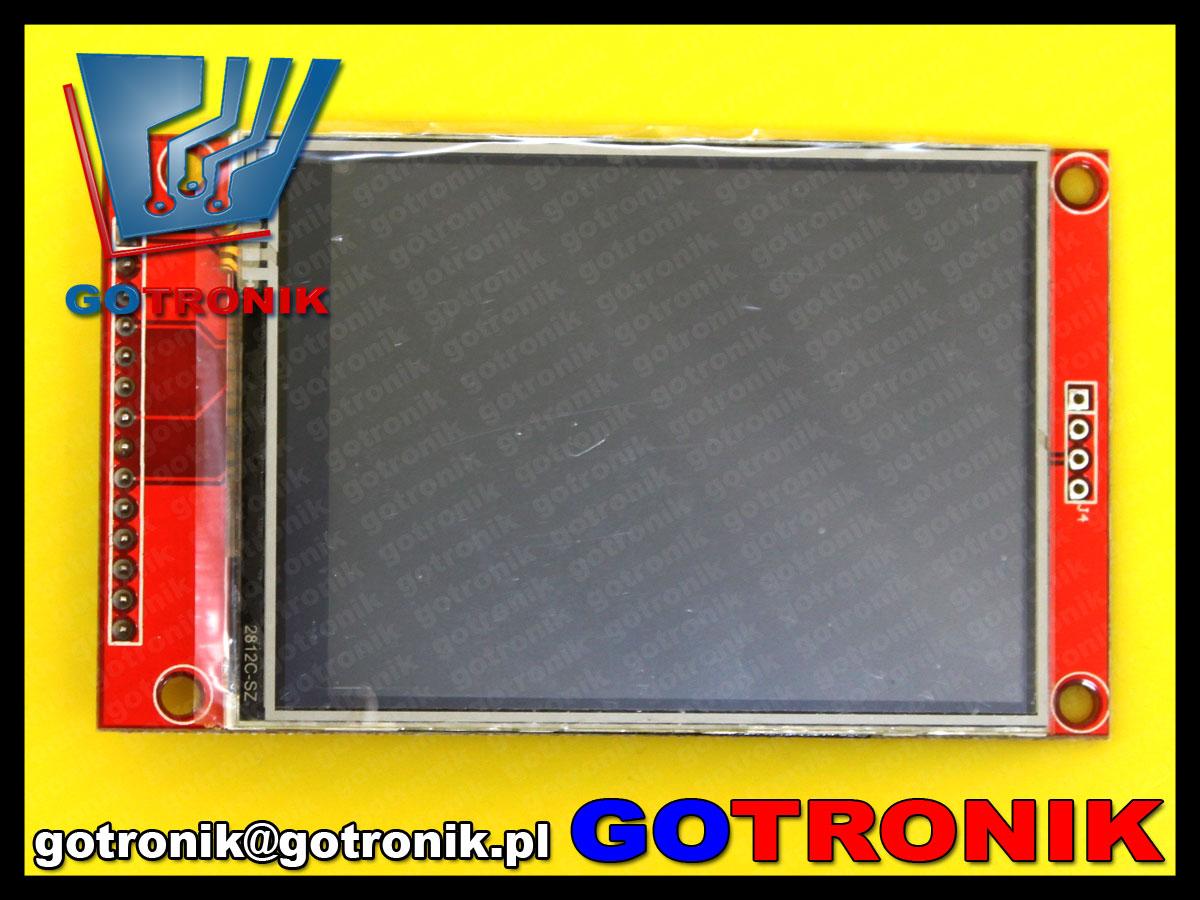 BTE-460 wyświetlacz LCD TFT aktywny 2,8cala 240x320 spi dotykowy ILI9341  SD card