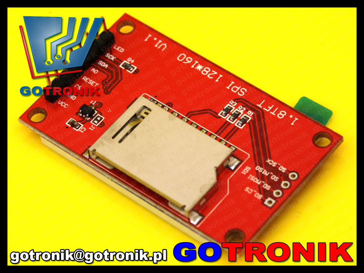 BTE-463 wyświetlacz LCD TFT 1,8cala 128x160 SPI SDcard lcd1602