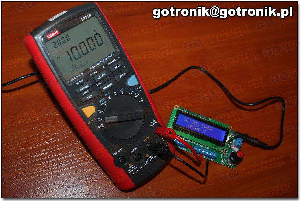 BTE-471 zadanik kalibrator pętli prądowej loop 0-20mA napięcia 0-10V