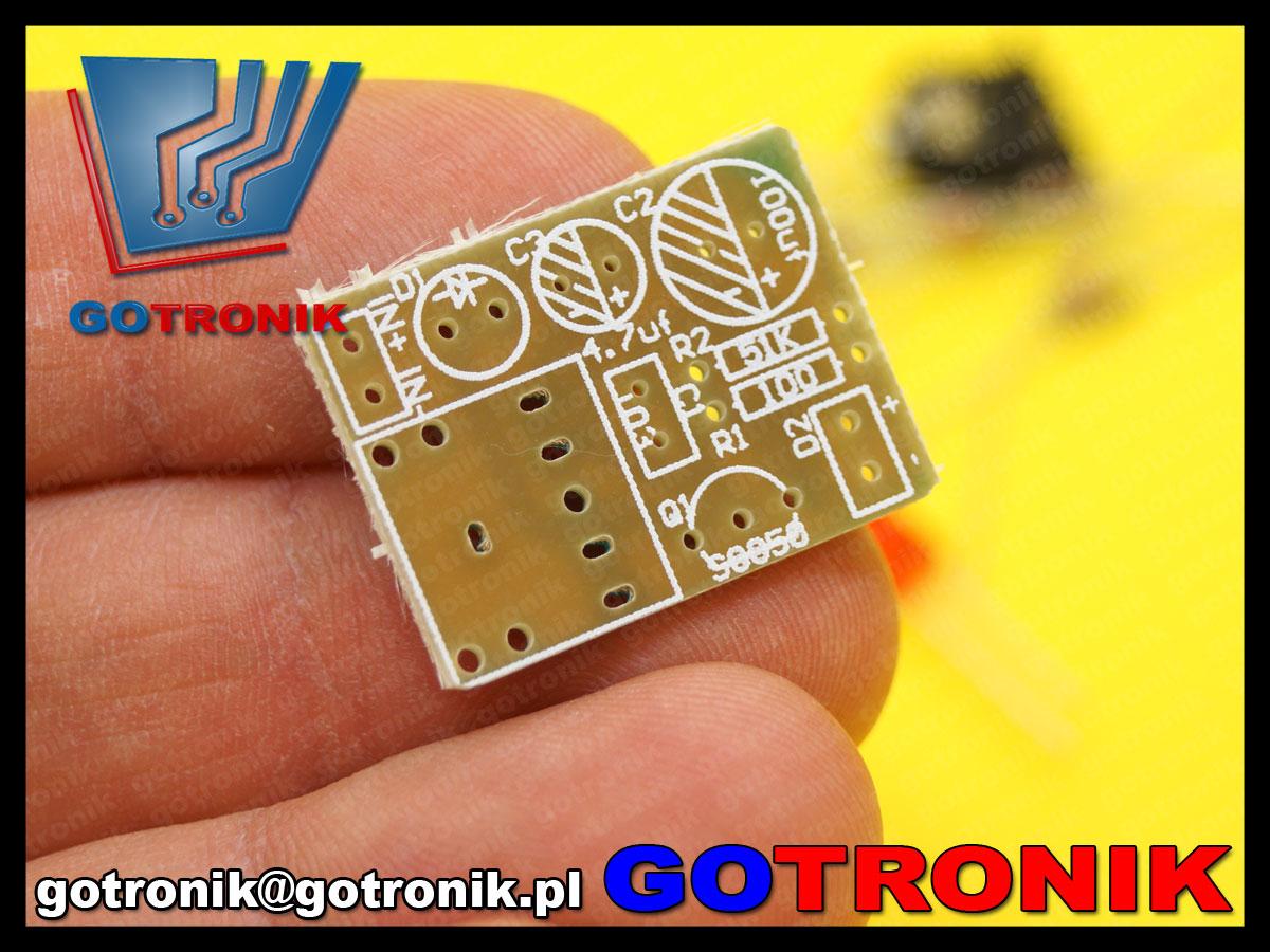 BTE-475 zestaw do samodzielnego montażu PCB transmiter IR audio lm386n