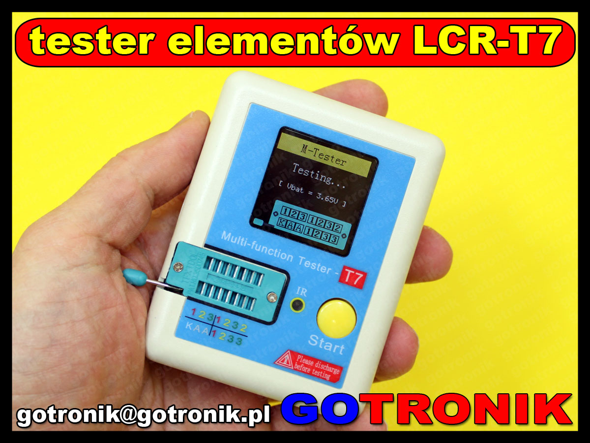 tester elementów elektronicznych m328 LCR-T7 Transistor Tester Multi-functional Didoe Triode Capacitance Resistor Inductance MOSFET NPN PNP Triac MOS Detector
