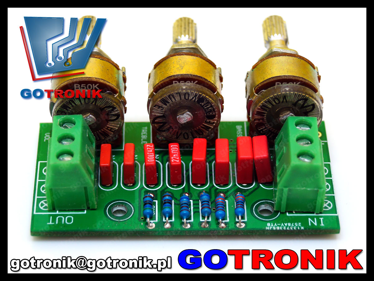 BTE-478 preamp przedwzmacniacz stereo regulacja tonów