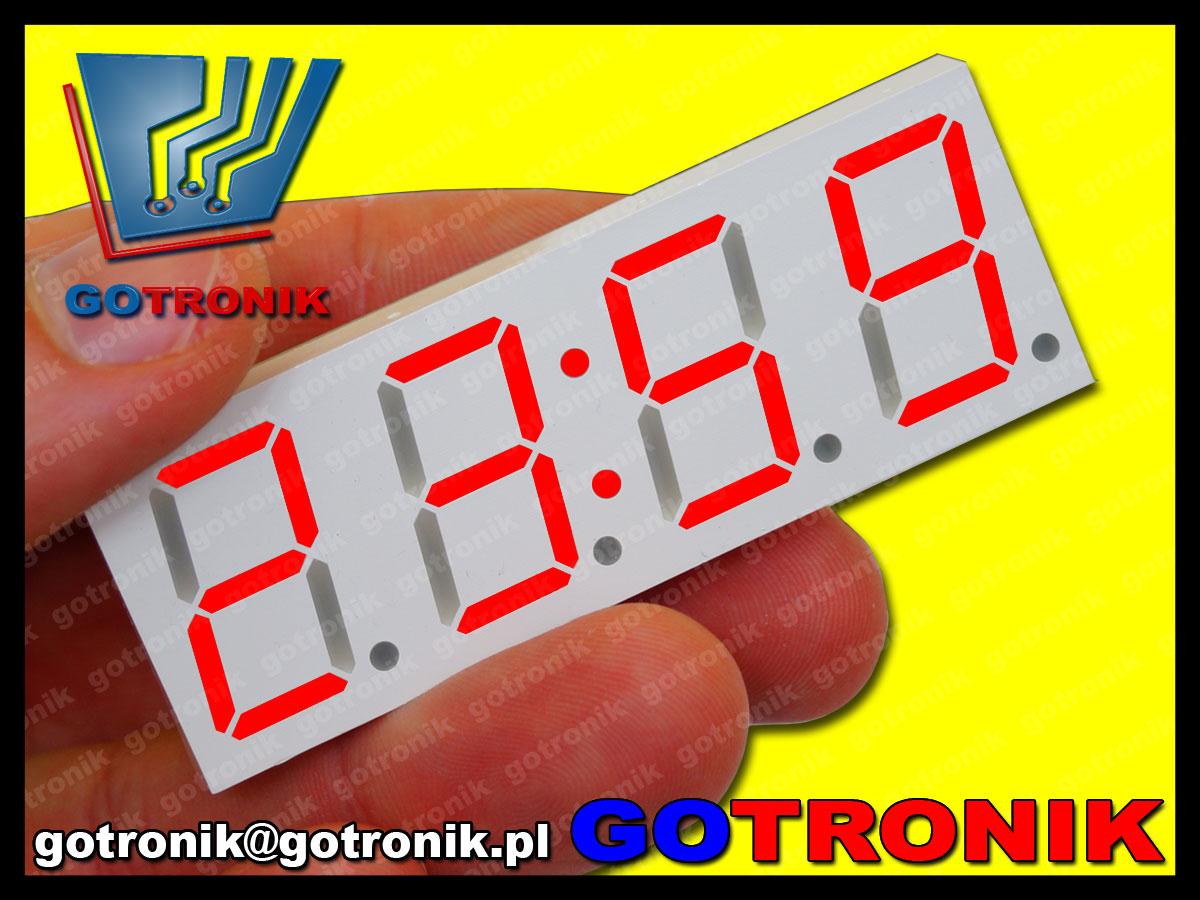 BTE-480 zegarek elektroniczny LED czerwony DS3231 RTC