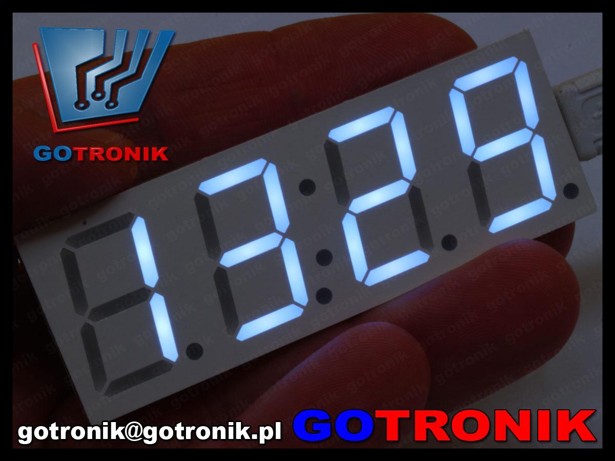 BTE-481 zegarek elektroniczny LED biały DS3231 RTC