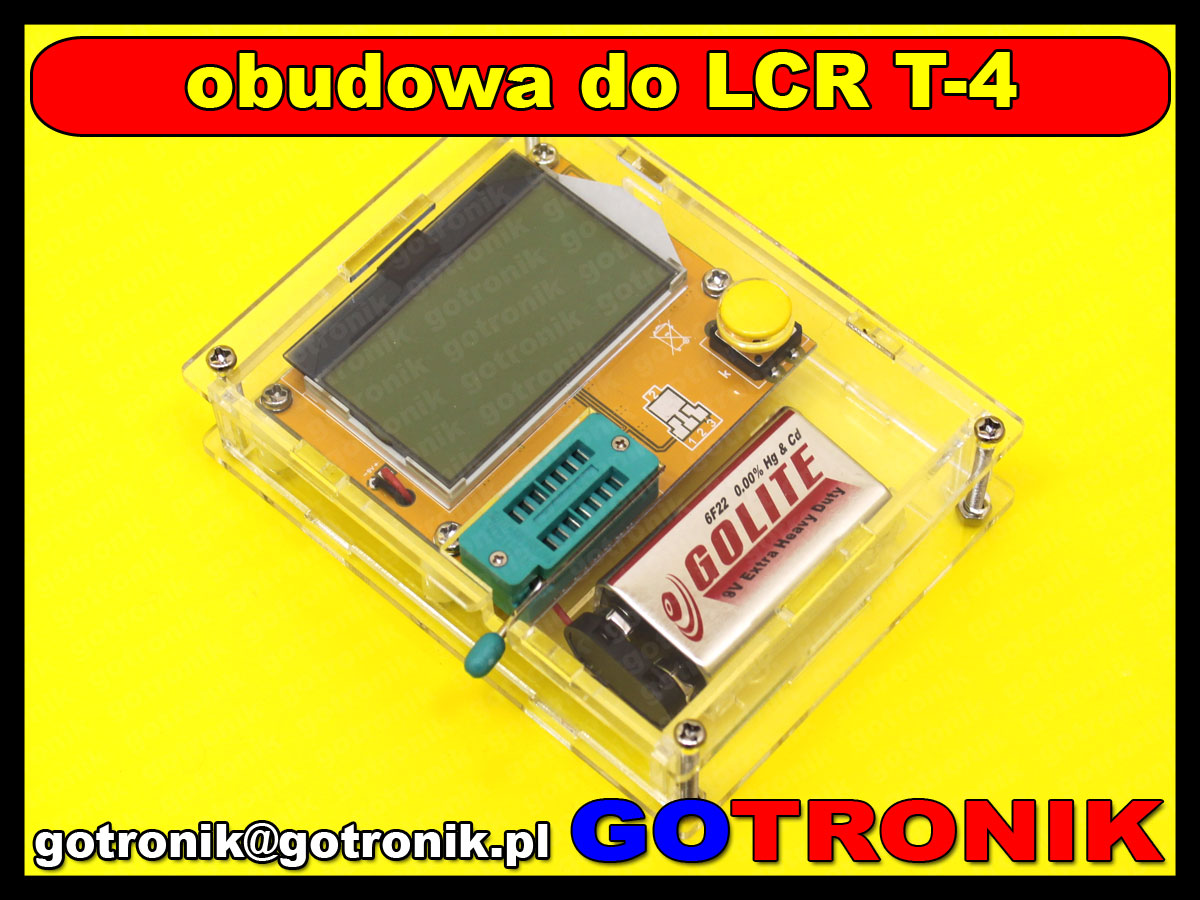 BTE-485 obudowa testera elementów BTE-056 RLC LCR T-4 akrylowa