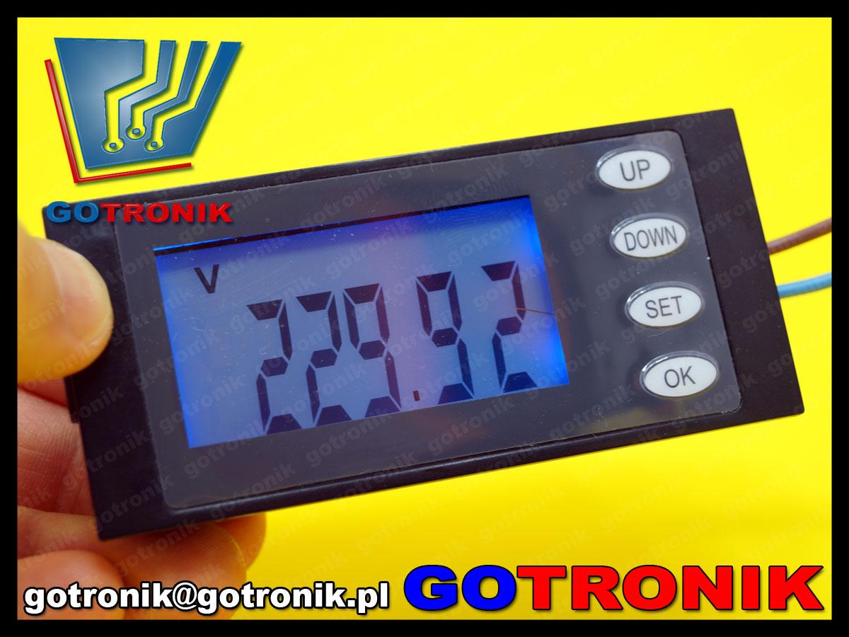 BTE-494 Panelowy miernik AC napięcia, prądu, mocy, energii