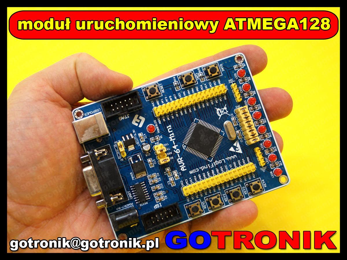 BTE-497 moduł startowy uruchomieniowy naukowy AVR , ATmega128, ATmega128A BTE497