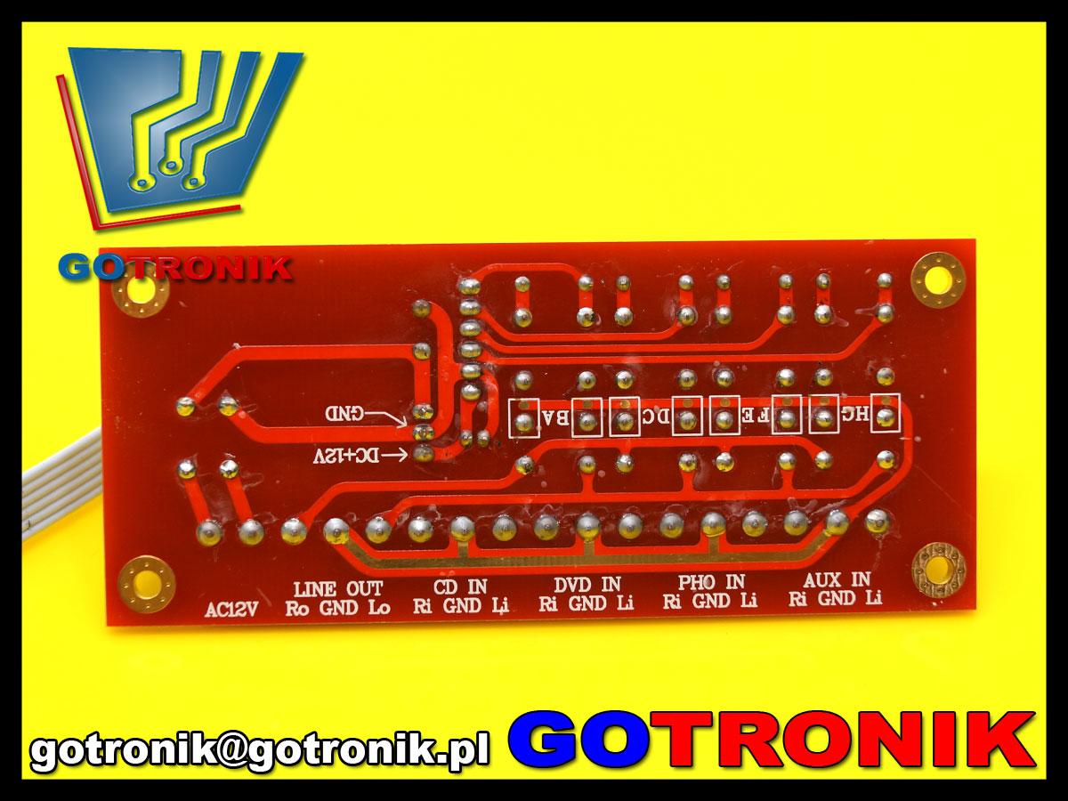 BTE-507 selektor źródła sygnału audio na przekaźnikach przełącznik