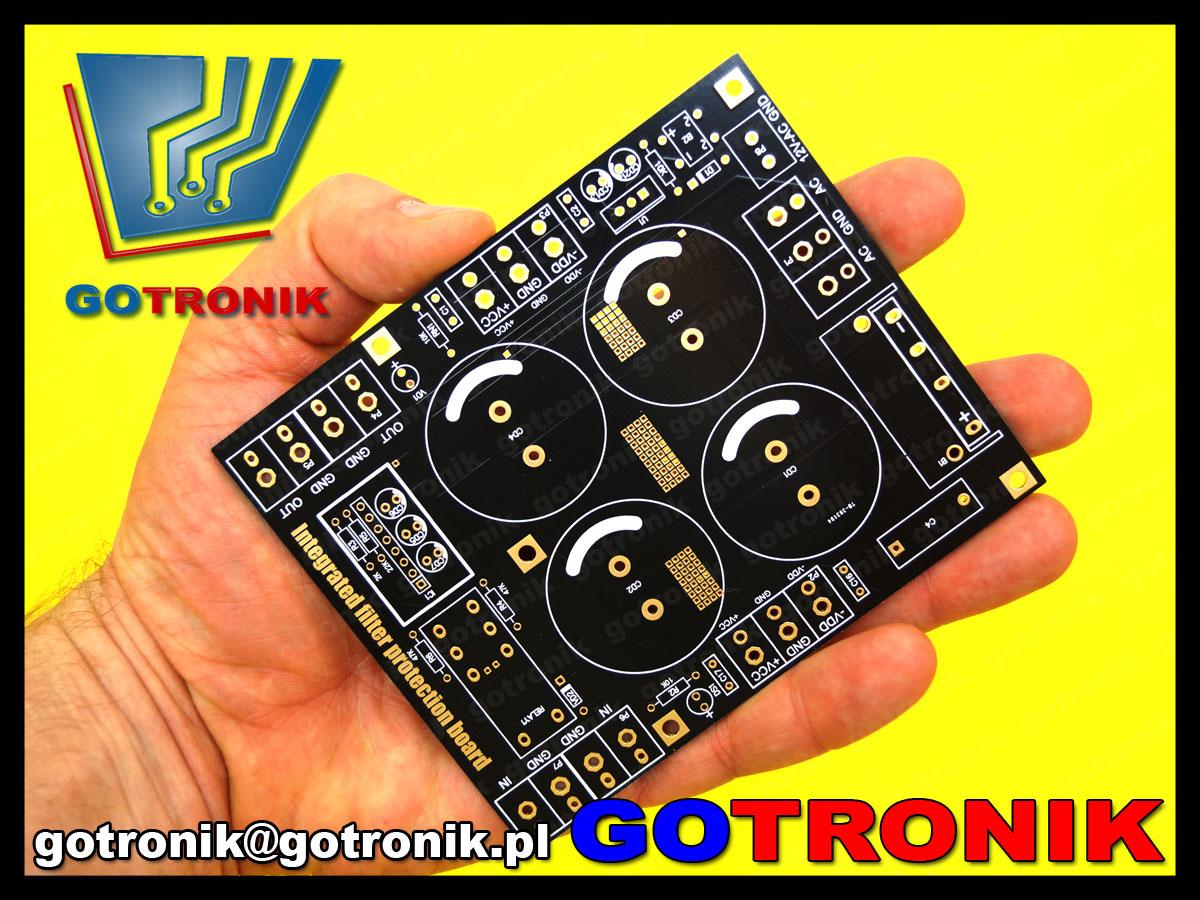 bte-508 zasilacz niestabilizowany symetryczny do wzmacniacza audio + zabezpieczenie głośnika przed składową stałą DC