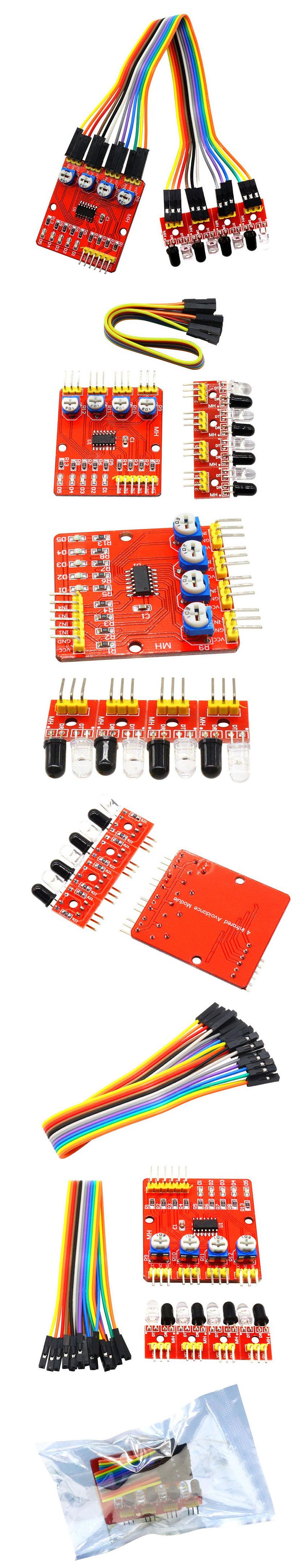 BTE-511 czterokanałowy 4 kanałowy czujnik odległości do Arduino i układów mikroprocesorowych