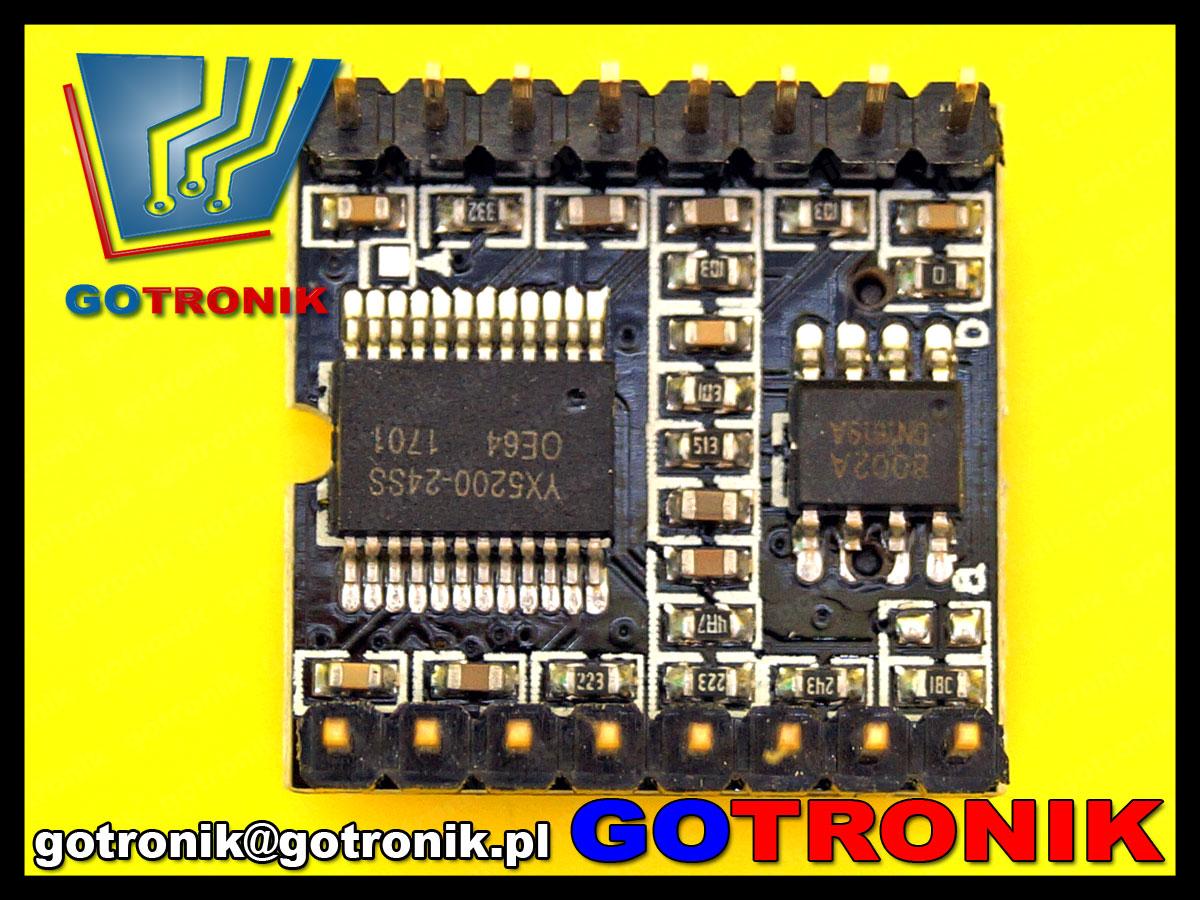 BTE-516 moduł sprzętowego odtwarzacza mp3 dfplayer mini do arduino uno
