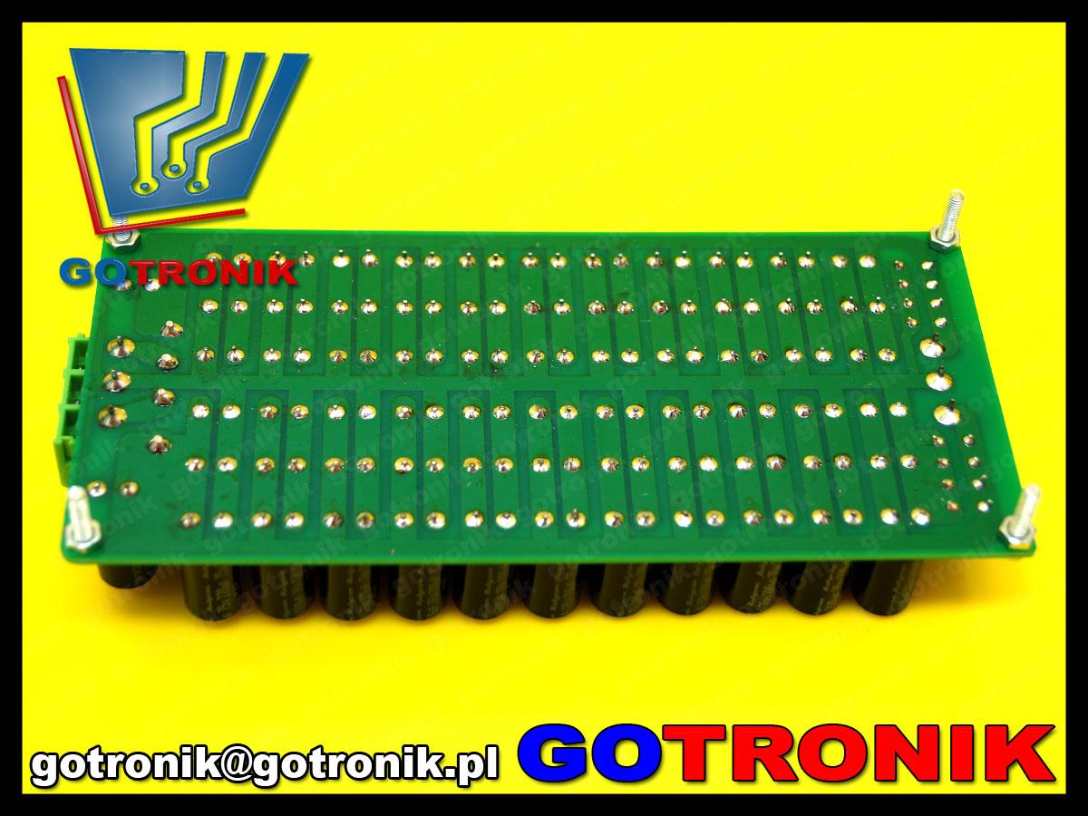 BTE-519 bateria kondensatorów elektrolitycznych zasilacz niestabilizowany audio
