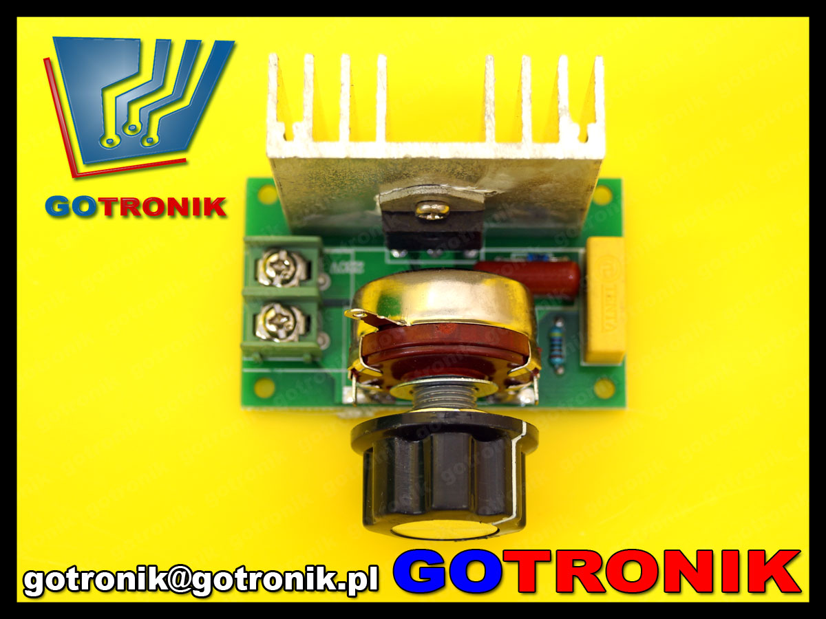 regulator mocy ac 220V ac 230V ściemniacz dimmer 3800W 3,8kW BTE-523