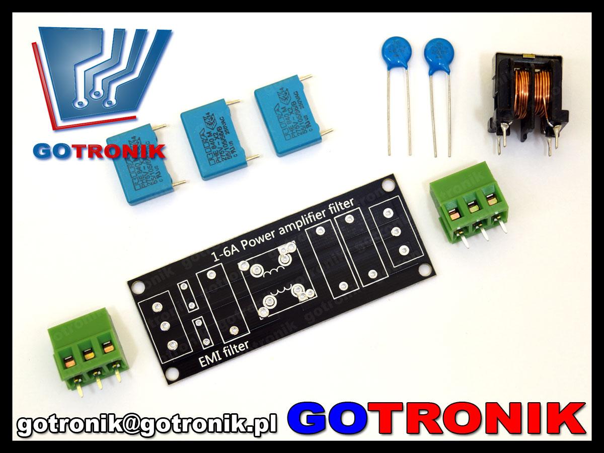 przeciwzakłóceniowy filtr napięcia sieciowego EMI sieciowy 4A kit DIY BTE-525
