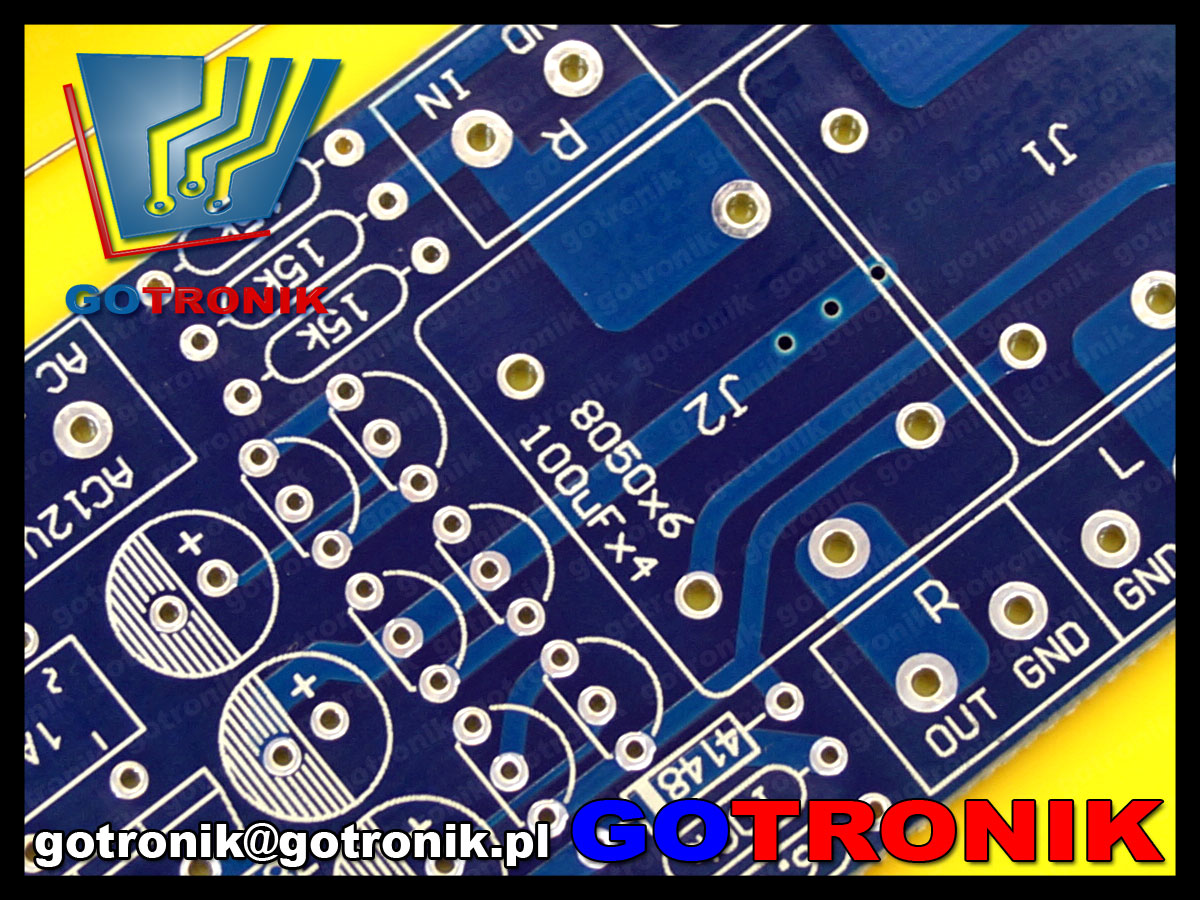 układ zabezpieczenia cewki głośnika przed składową stałą V DC kit DIY BTE-529