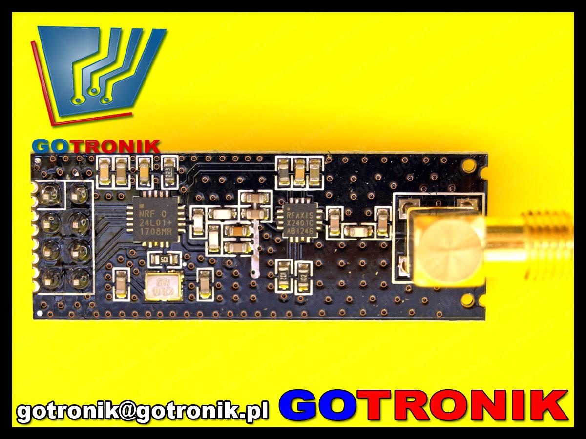 moduł do komunikacji bezprzewodowej radiowej nRF24L01 2,4GHz