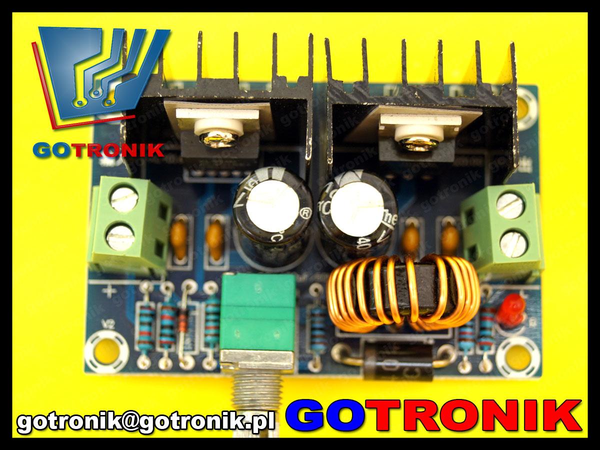 XL4016 przetornica impulsowa obniżająca napięcie step down 200W  max 8A 1.25-36V DC