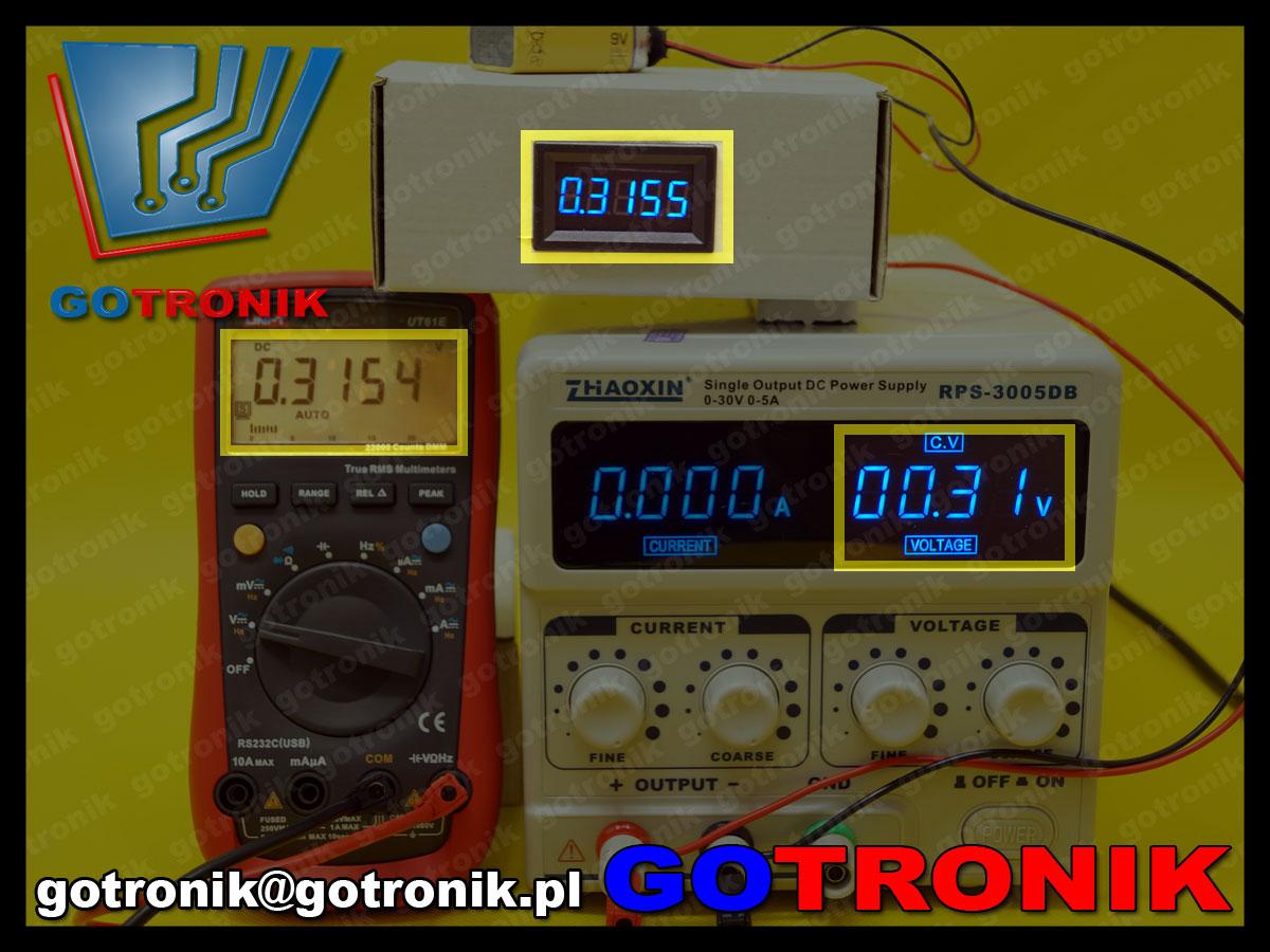 woltomierz panelowy led 0-33,000V LED 5 cyfr