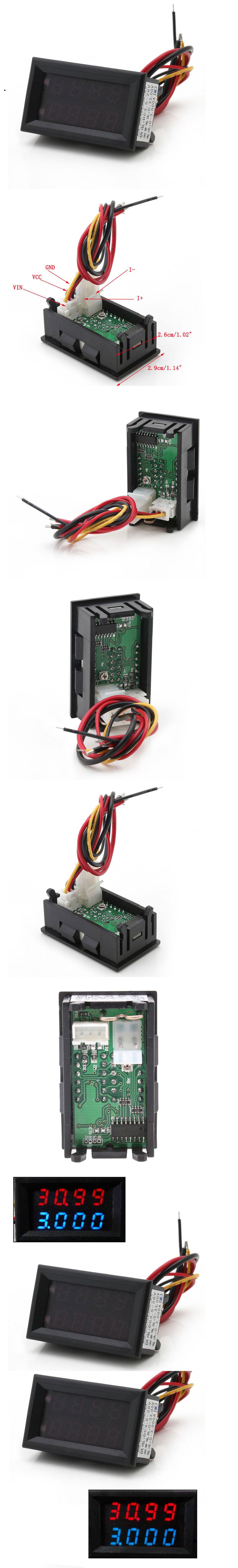 woltomierz amperomierz panelowy do pomiaru napięcia i amperarzu led panelowy 33V 3A BTE-536