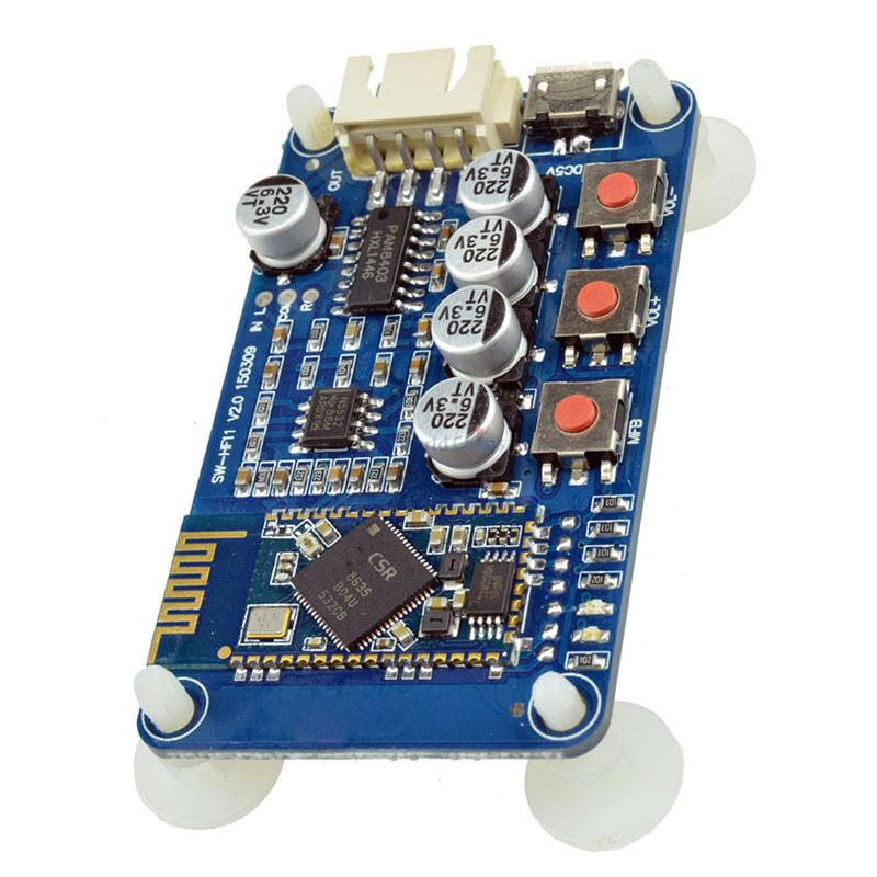 wzmacniacz mocy 2x3W PAM8403 Bluetooth CRS8635 NE5532 uSB 5V BTE-545