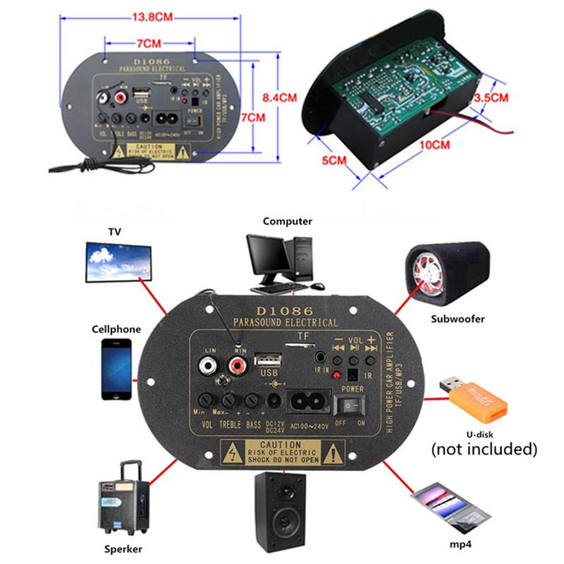wzmaczniacz mocy audio odtwarzacz mp3 usb bluetooth sdcard BTE-549 D1086 parasound electrical