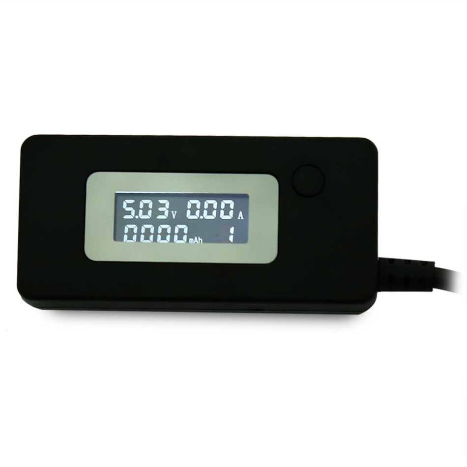 Miernik napięcia i prądu portu USB CHARGER Doctor KCX-017 czarny black BTE-550