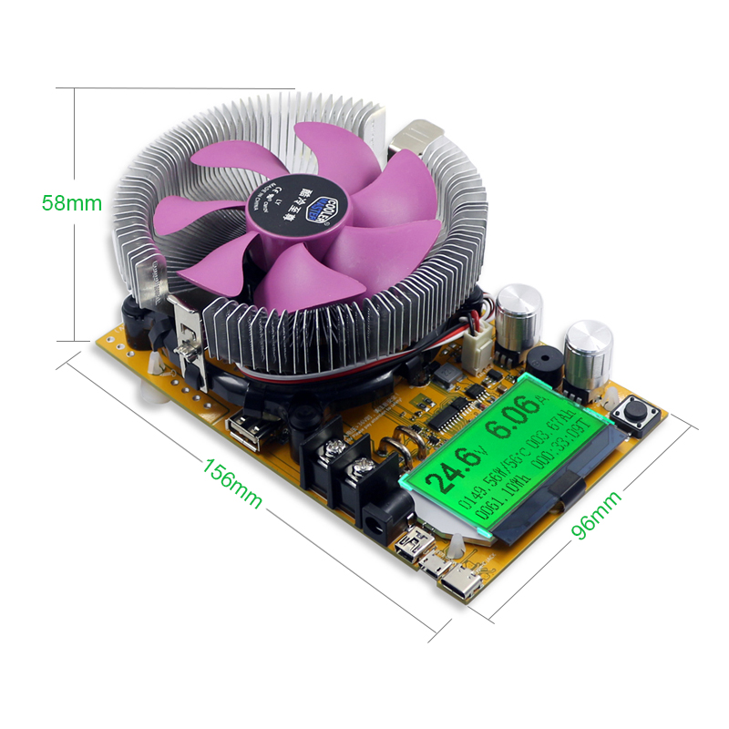 aktywne obciążenie prądowe mosfet 200V 20A 150W regulowane elektroniczne obciążenie sztuczne BTE-551 150W Constant Current Electronic Load