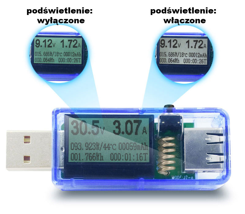 miernik portu USB J7-g otorch BTE-552 doctor charger
