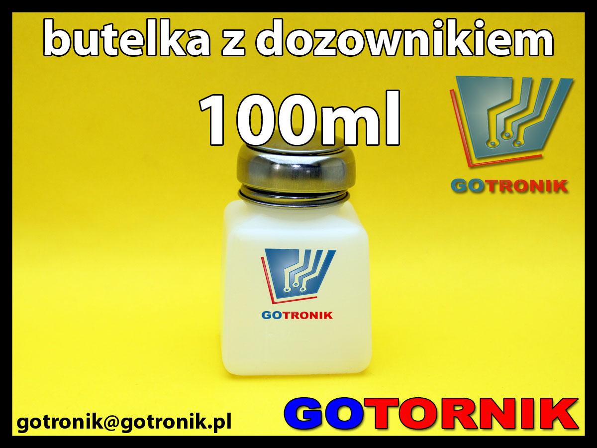 Butelka z dozownikiem 100ml do izopropanolu, akloholu